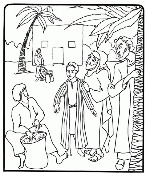 free coloring pages of joseph and the coat