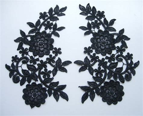 lace applique vt92 2 large mirror pair floral lace venise venice