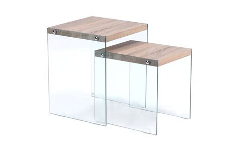 table basse gigogne en verre table basse scandinave en verre ezooq