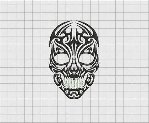 3x3 tattoo designs skull tribal stitch embroidery design in 3x3 4x4