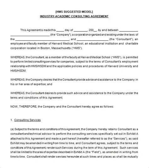 consulting agreement template consulting agreement exles 5 consultant agreement