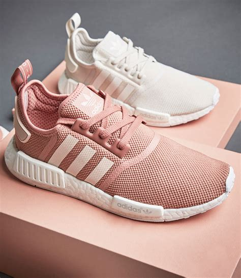 adidas nmdr womens pink  white sneakers madame