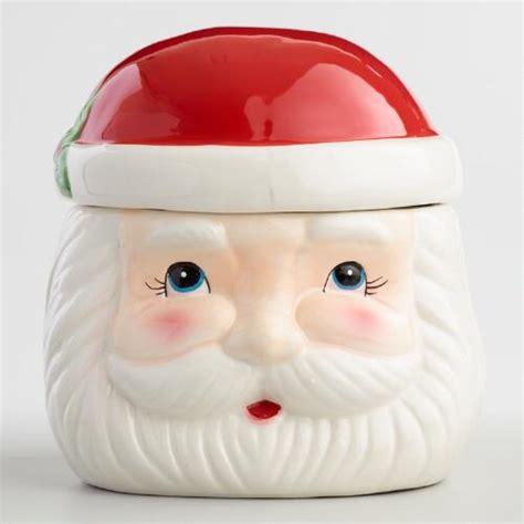 ceramic santa claus retro santa claus ceramic cookie jar world market