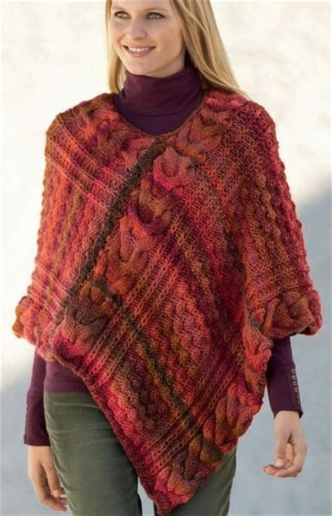 poncho pattern knitting yarn free knitting pattern for azteca poncho this cabled