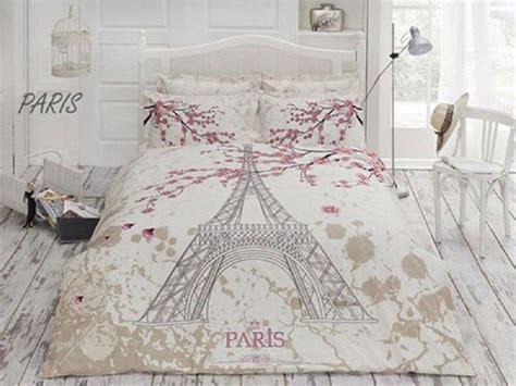 Eiffel Tower Quilt Cover Single by Ranforce Duvet Quilt Cover Set In 4 Pcs