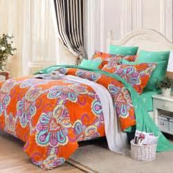 orange bedding orange and turquoise green bohemian boho chic western
