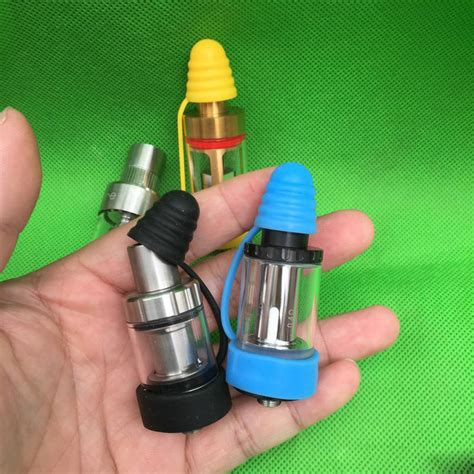 Vape Band Vape Rubber Band Vaporizer rubber band vape dengan drip tip cap blue
