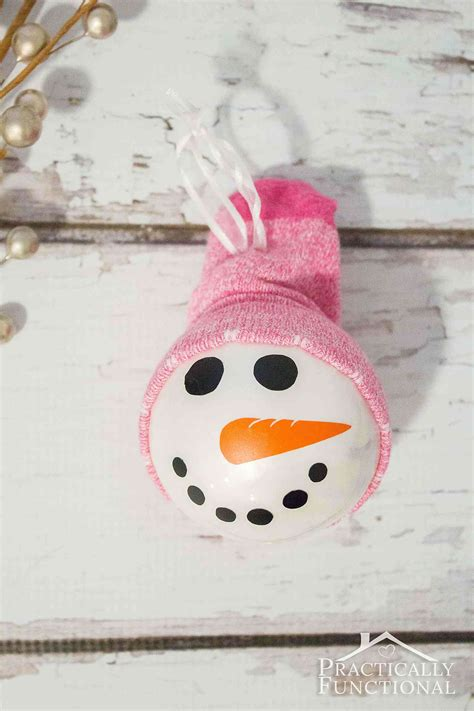 sock hat for snowman diy snowman ornament with a sock hat