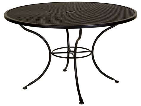 48 patio table ow mesh wrought iron 48 dining table with umbrella 48 mu