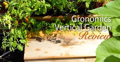 Gronomics Vertical Garden Gronomics Vertical Garden Bed Product Review Gardening