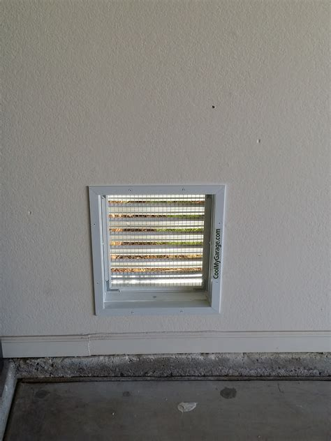 installing a bathroom vent through the wall aluminum air intake vent cool my garage
