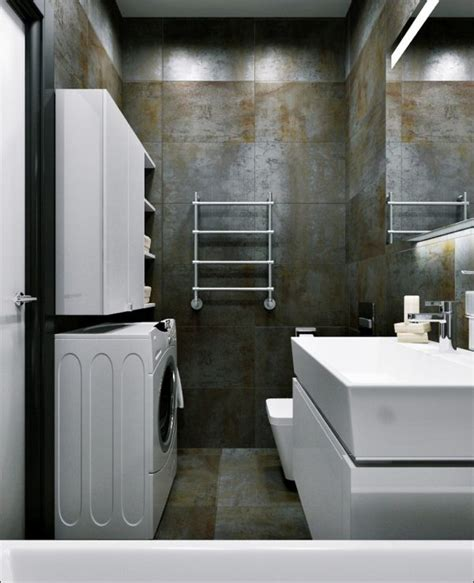Modern Industrial Bathroom Ideas 3 Small Apartments That Rock Uncommon Color Schemes With