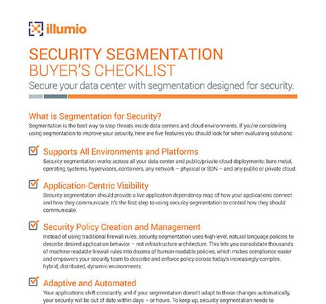 Resource Center Guide Security Segmentation Buyer S Checklist Hitrust Policy Templates