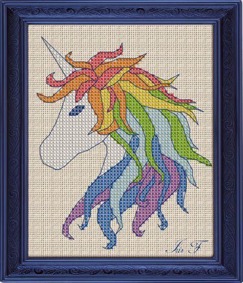 Unicorn Needlepoint Pattern | free cross stitch pattern unicorn diy 100 ideas