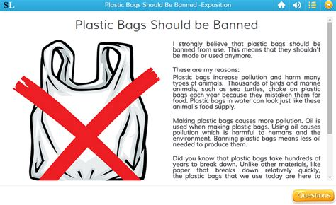 Plastic Bags What The Fuss Should Really Be About by Plastic Bags Should Be Banned Exposition Skills