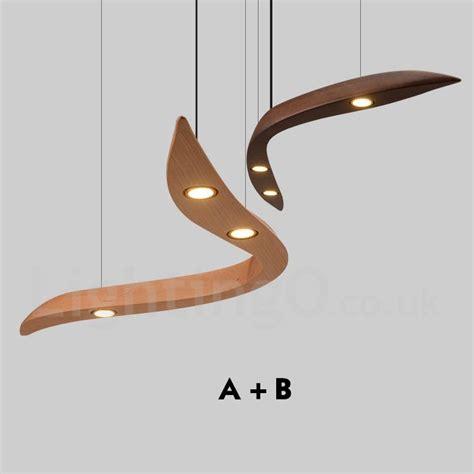 modern contemporary led wood 3 light pendant light for