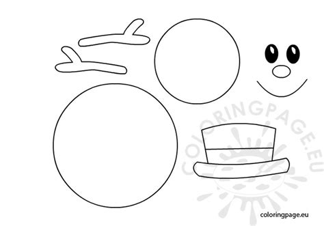 free coloring pages of snowman template