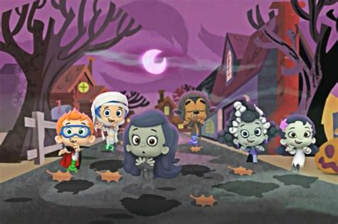 bubble guppies haunted house party cartoni animati di halloween per bambini trashic