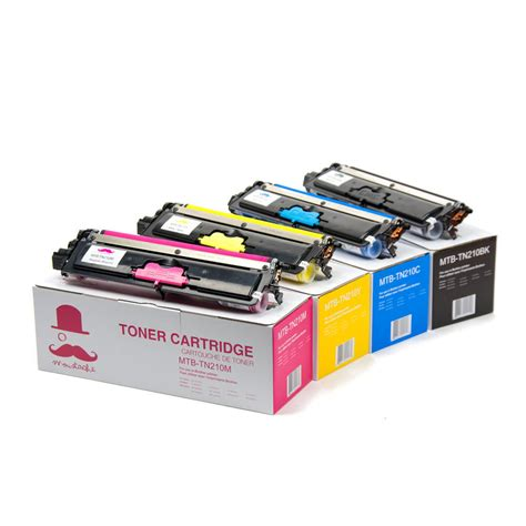 Printer Toner tn 210 bk c m y new compatible toner cartridge combo set moustache 174 at inkjetsuperstore