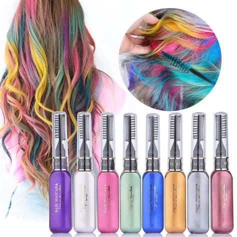 hair color temporary 8 color set hair mascara temporary non toxic diy hair