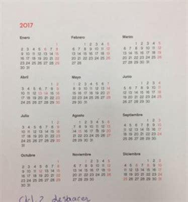 Calendario Festivos España 2017 El Calendario Laboral Para 2017 Recoge 12 D 237 As Festivos