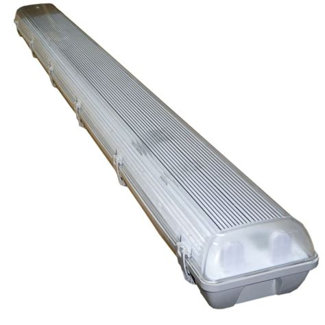 fluorescent l fitting 4 x 5ft twin waterproof fluorescent light fitting non