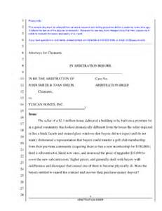 Arbitration Briefformat Arbitration Brief Sle Fill Printable Fillable Blank Pdffiller