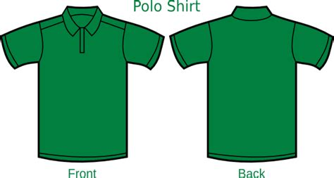 free polo shirt template darkgreen poloshirt template clip at clker