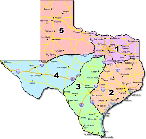 texas map of regions texas marshal association region map