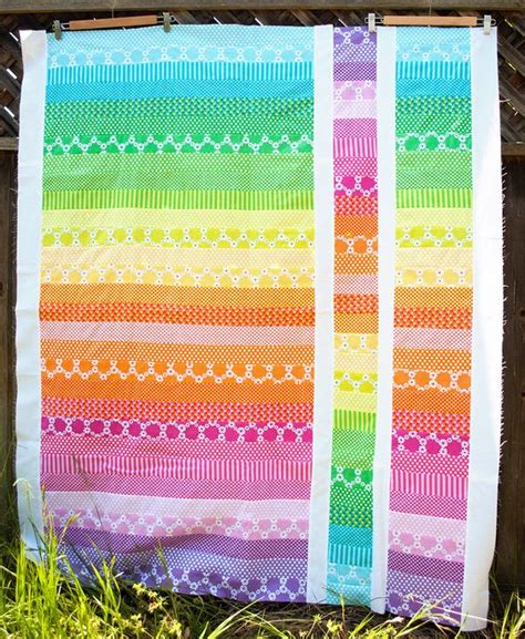 How Many Jelly Rolls To Make A Baby Quilt by Jelly Roll Quilt And Easy The Bright Colors