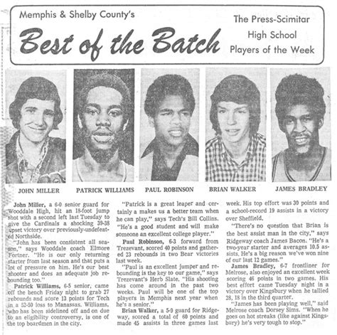 commercial appeal sports section memphis tech high class of 1975