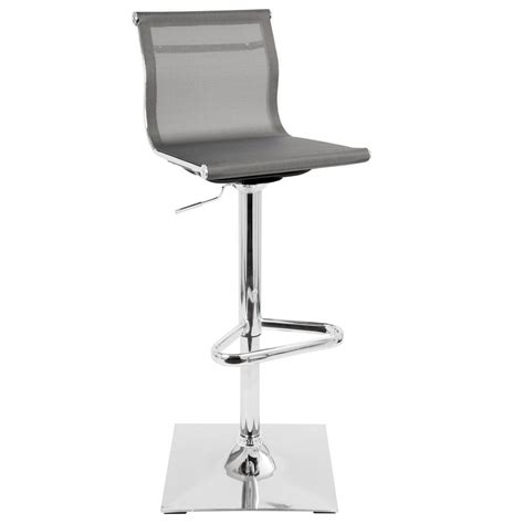 Lumisource Adjustable Bar Stool by Lumisource Mirage Silver Adjustable Height Bar Stool Bs Tw