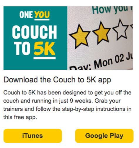 which couch to 5k app is best public health england and libraries potential to work