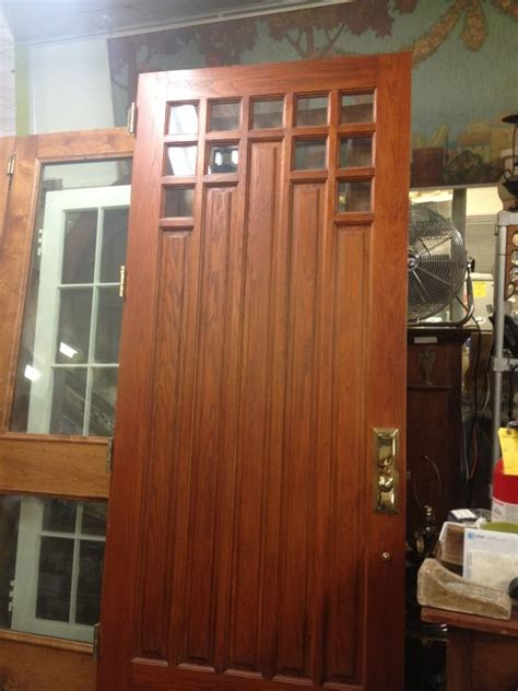 4 Foot Wide Exterior Door Craftsman Style Front Door 41 3 4 Wide X 8 Ebay