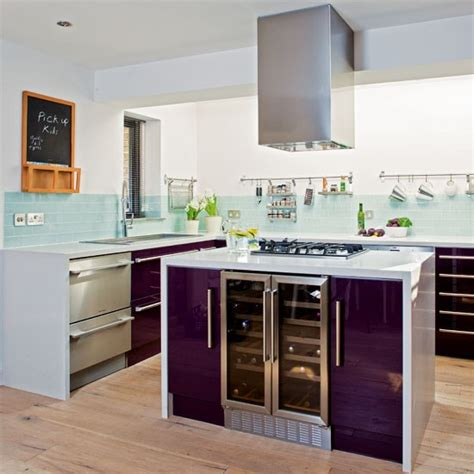 purple kitchen design sleek purple kitchen kitchen design idea housetohome co uk