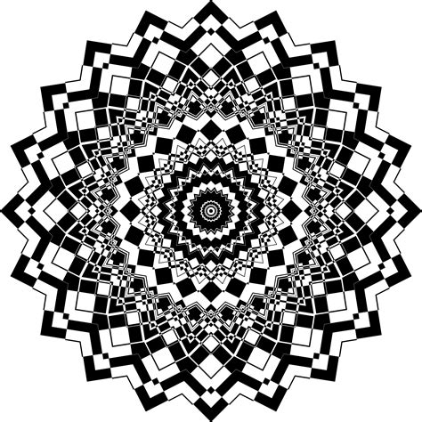 Clipart   Positive And Negative Mandala 9
