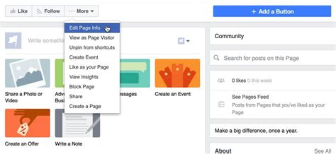 facebook business page about section how to setup facebook business pages in 5 easy steps