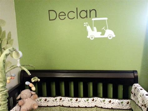 golf comforters rockin robin crib bedding and customized golf decal from