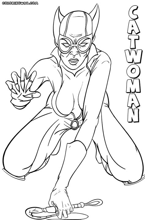 catwoman coloring pages coloring pages to download and print