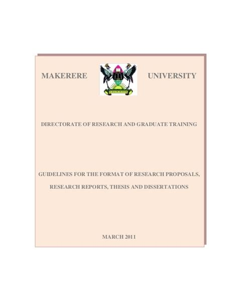 makerere dissertations best 25 research ideas on thesis