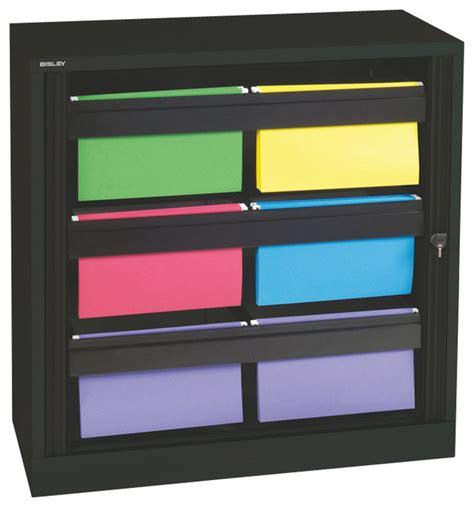 folders for filing cabinet bisley 40 inch hanging file folder tambour cabinet in black steel traditional filing