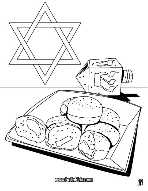 hanukkah doughnut coloring pages hellokids com