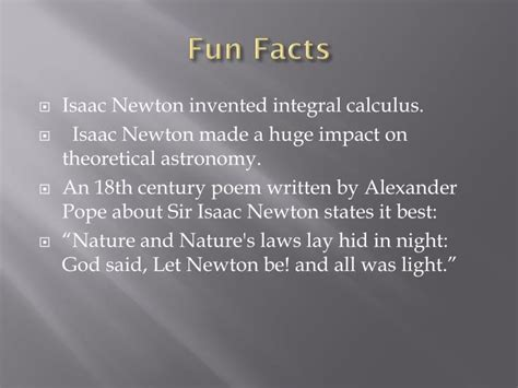 biography of isaac newton s most important facts ppt sir isaac newton powerpoint presentation id 2167673