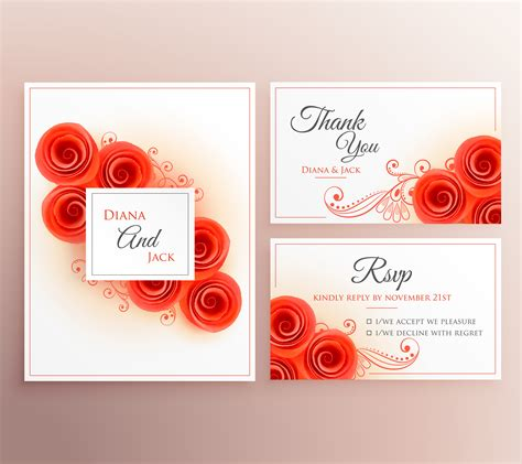 beautiful invitation card templates beautiful wedding invitation card with flower