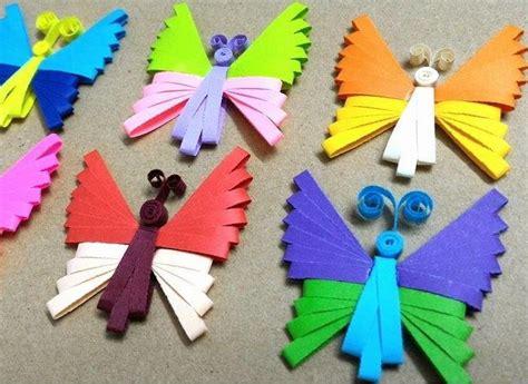 Butterfly Construction Paper Craft - quilling comb paper butterflies allfreepapercrafts