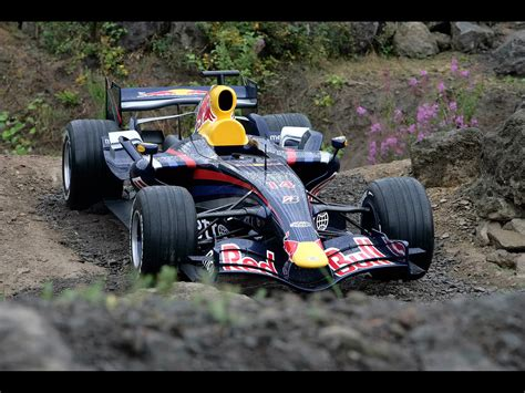 wallpaper f1 classic 2007 red bull rb3 f1 off track front angle closeup