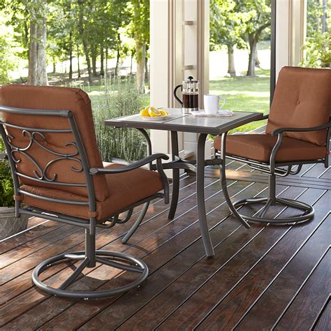 jaclyn smith clermont  piece bistro set rust limited