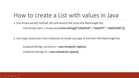 how to declare string in java how to declare and initialize a list arraylist and