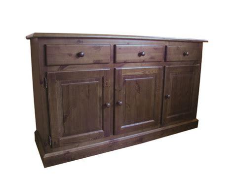 credenza pino credenza dritta 3 porte 3 cassetti in legno di pino