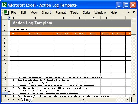 action plan template ms word 7 excels